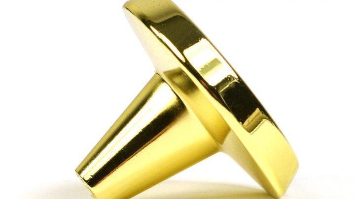 gałka meblowa złota